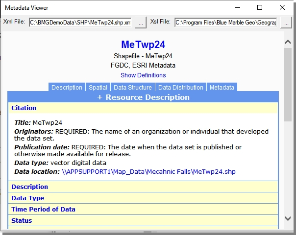 Metadata Viewer