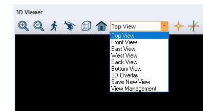 3D views drop-down box