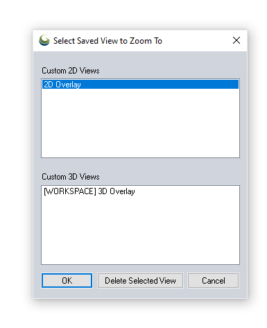 Saved Views Dialog Box