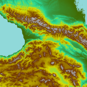 Topographic Map in Global Mapper